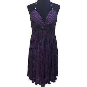 Speeckless Women's Pleated Purple Dress Large